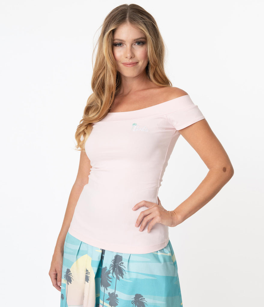 Stitch Shoppe By Loungefly Palm Tree Barbie Logo Dizzy Top