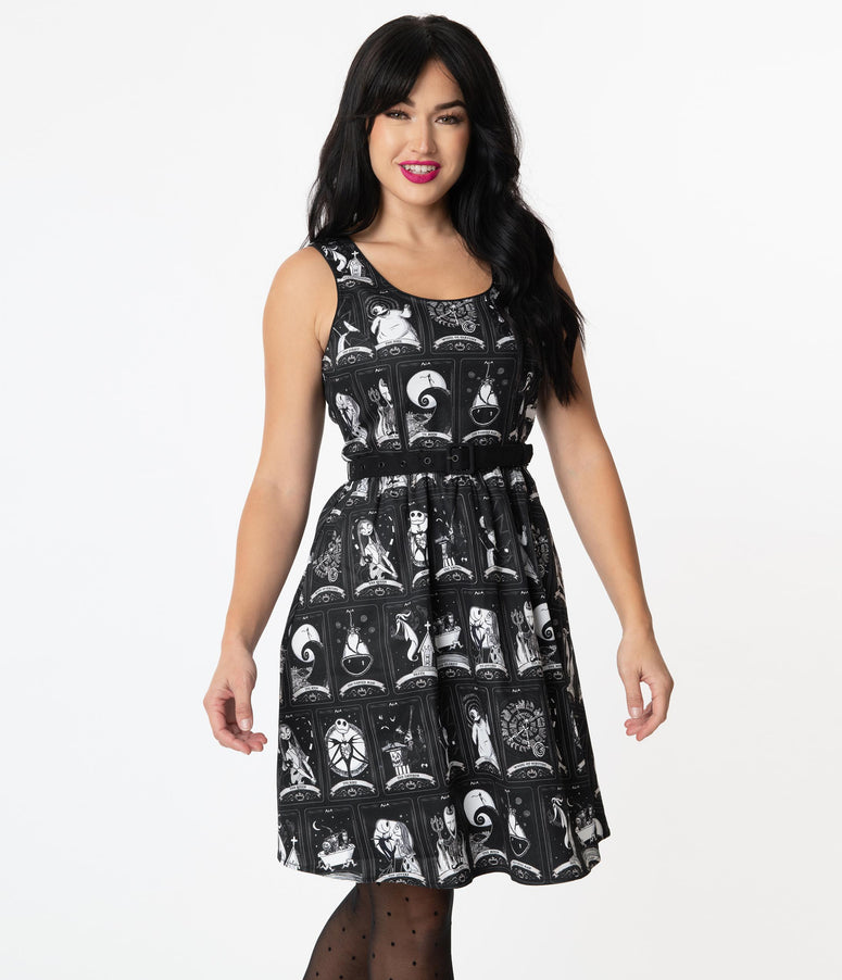 Stitch Shoppe By Loungefly Nightmare Tarot Cards Olivia Flare Dress