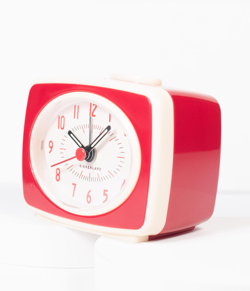 1950s Style Red Atomic Alarm Clock