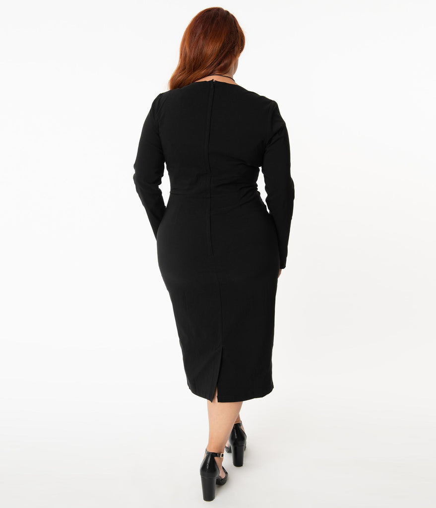 Collectif Plus Size Black Lura Pencil Dress
