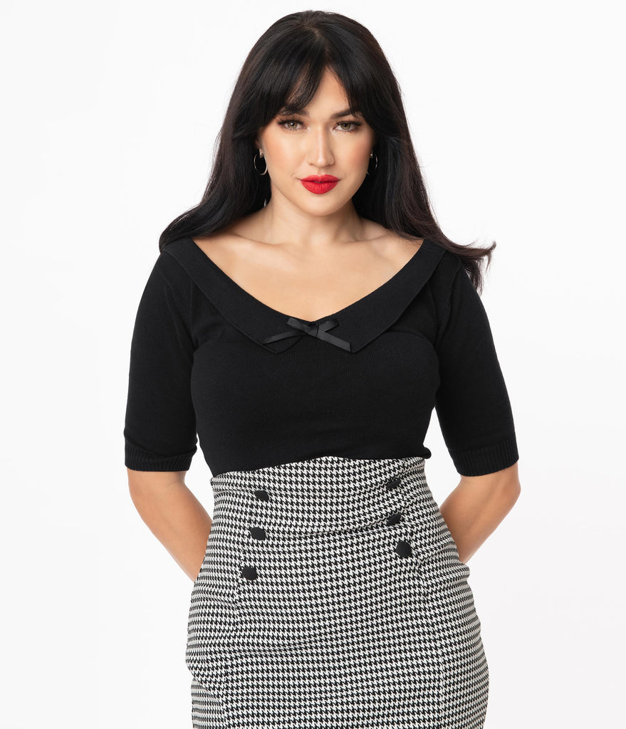 Collectif Black Babette Sweater Top
