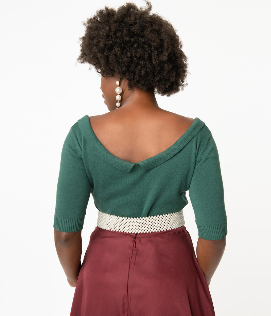 Collectif Green Babette Sweater Top