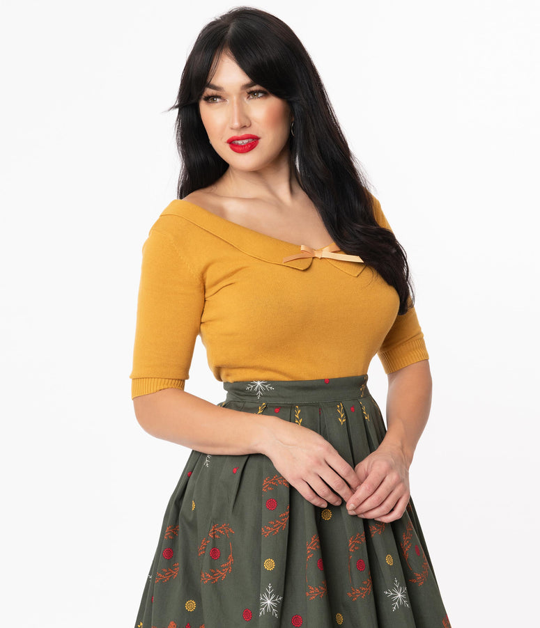 Collectif Mustard Babette Sweater Top