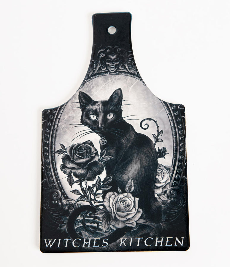 Black & White Ceramic Witches Kitchen Cutting Board