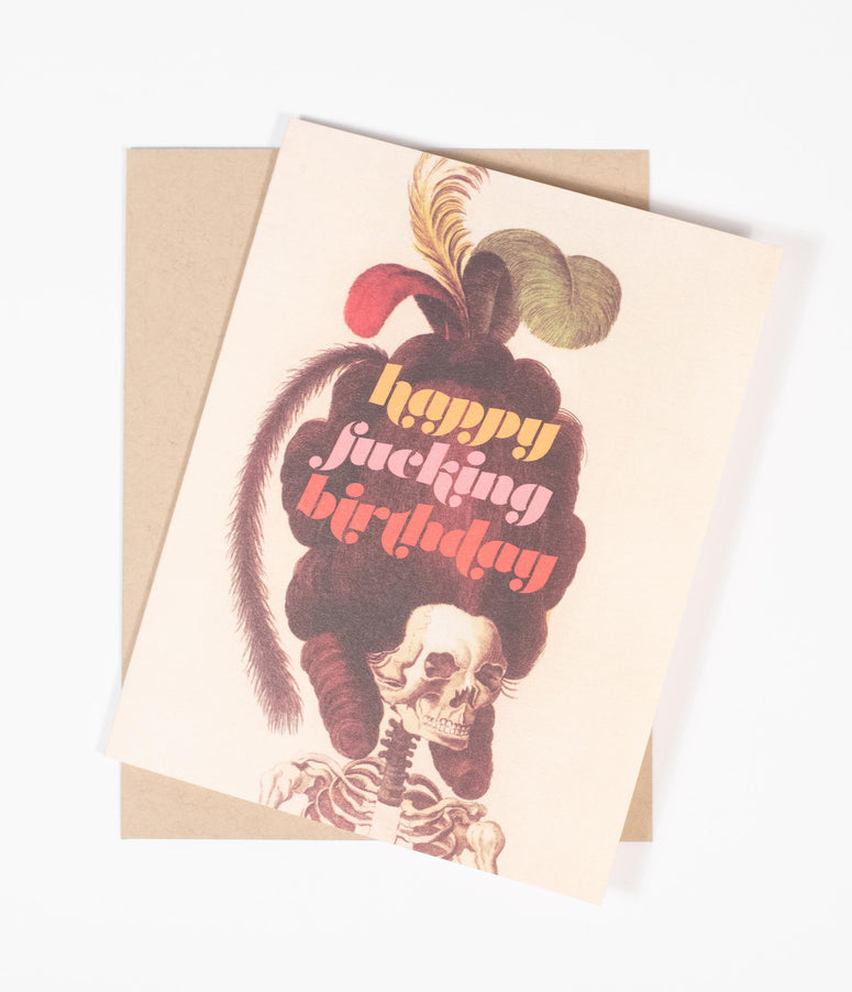 Birthday Skeleton Card