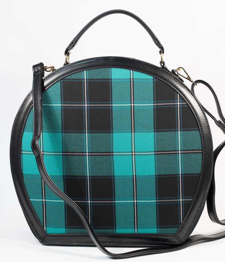 Collectif Green & Black Plaid Alexandria Oversized Handbag