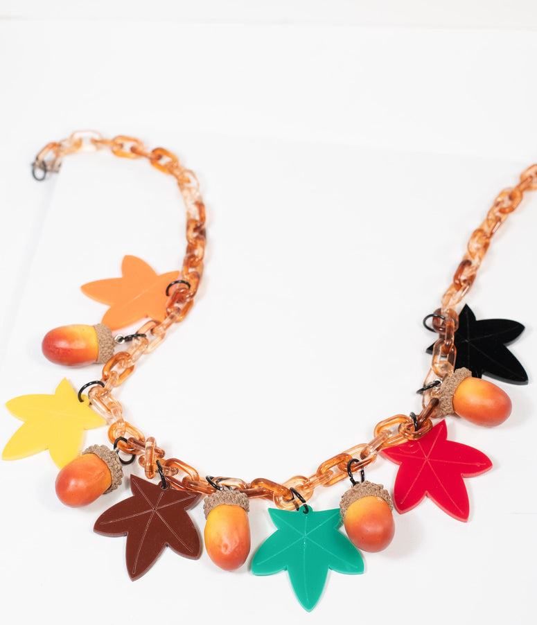 Collectif Autumn Leaves Imogen Necklace