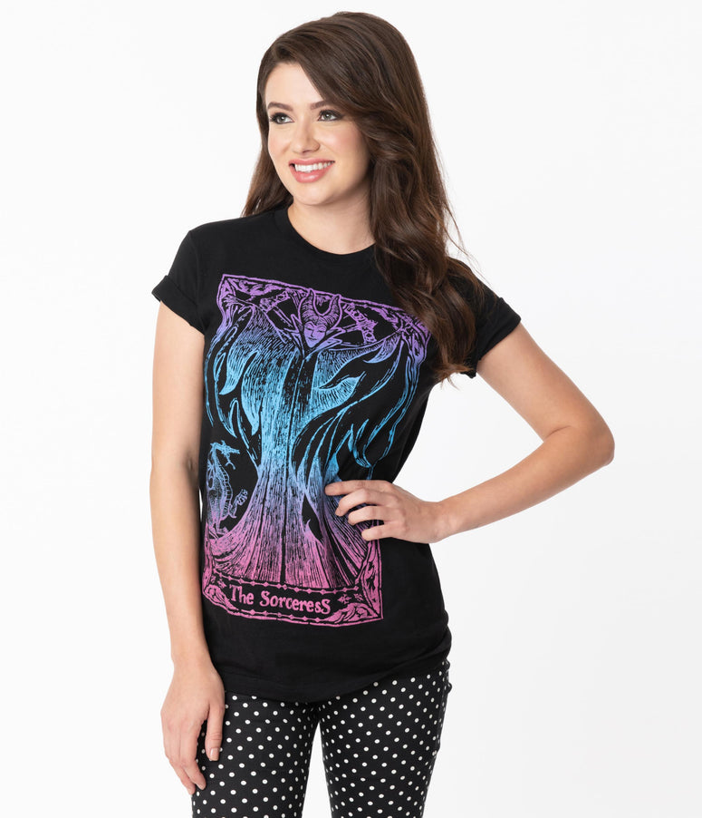 The Sorceress Tarot Card Disney Unisex Tee