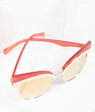 Retro Red & Gold Reign Cat Eye Sunglasses