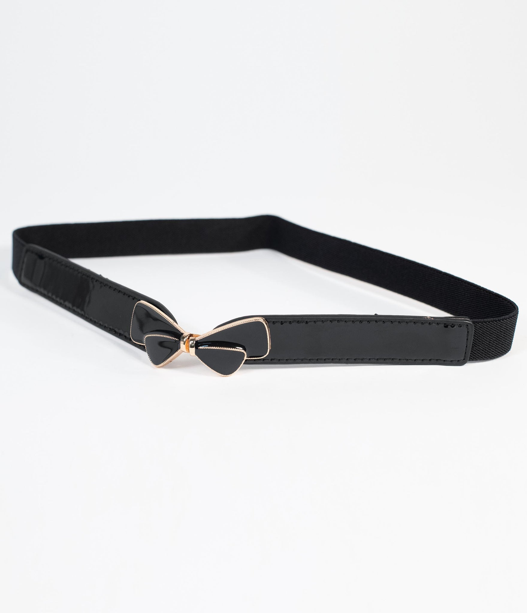 Unique Vintage Black Bow Cinch Belt