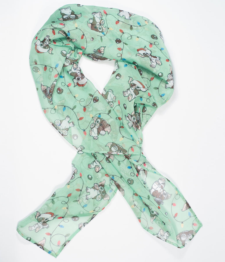 Gremlins x Unique Vintage Holiday Gizmo Print Hair Scarf