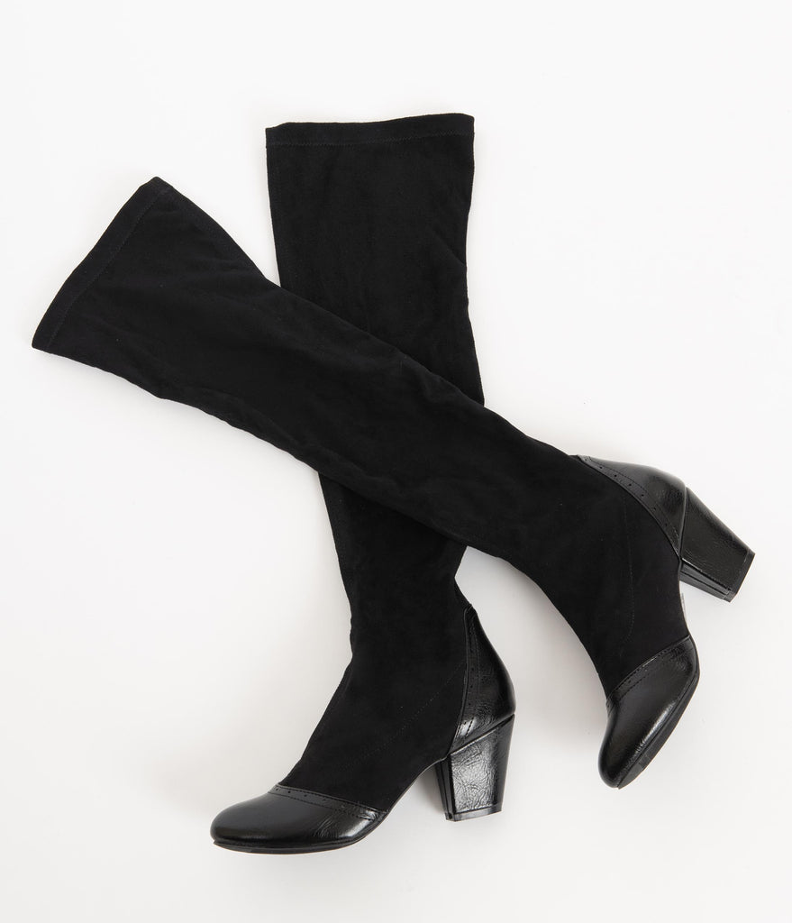 B.A.I.T. Black Suede Hysteric Knee-High Boots