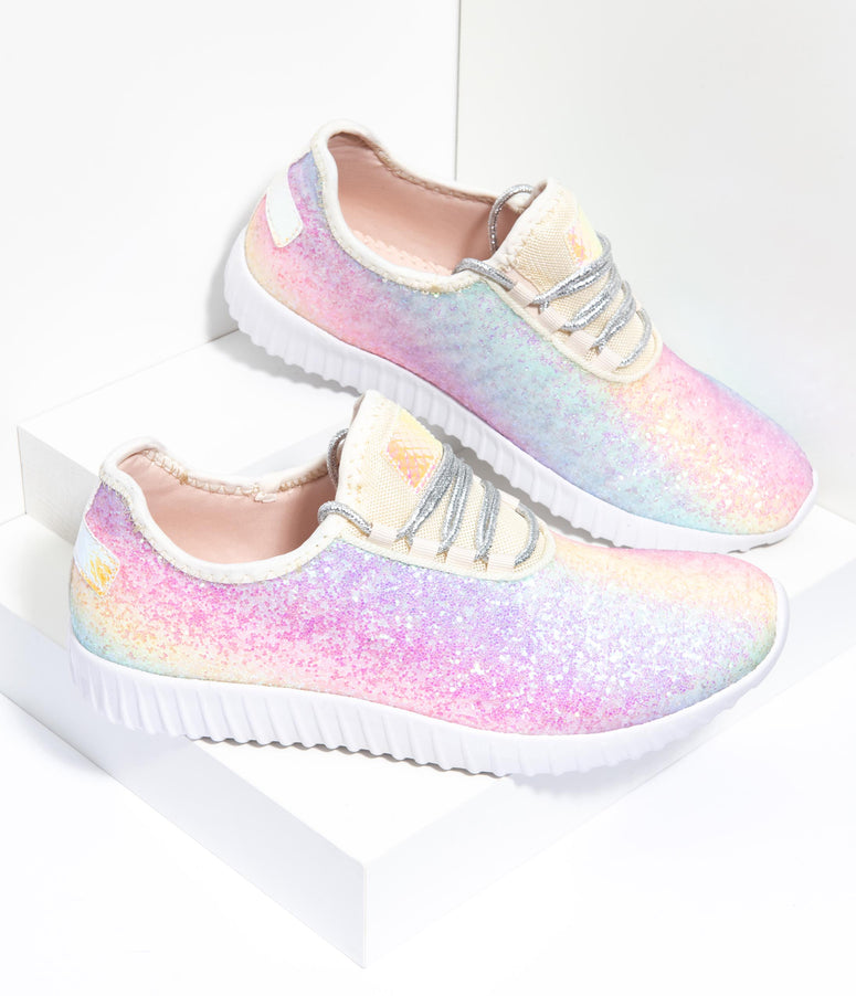 Rainbow Chunky Glitter Sneakers