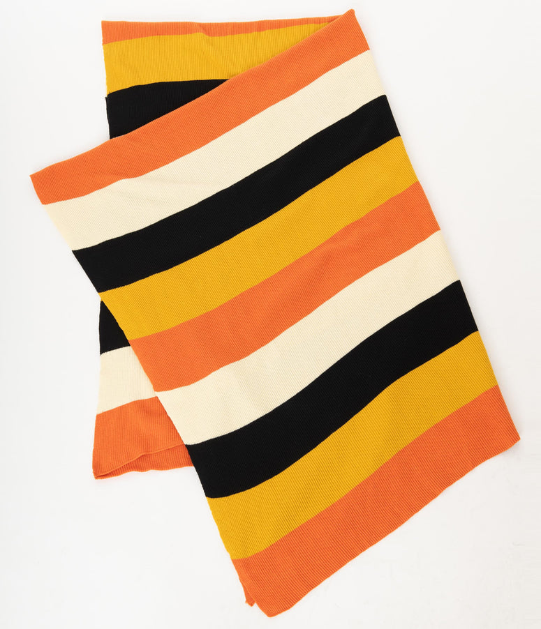 Candy Corn Stripe Knit Blanket