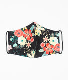 Multicolor Vintage Wildflower Print Face Mask