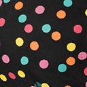 Unique Vintage 1950s Multicolor Dots Sheer Leota Swing Dress