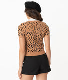 Cheetah Print Knit Sweater Top