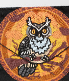 Halloween Owl Beaded Envelope Clutch