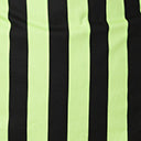 Plus Size Neon Green & Black Stripe Cross Neck Sandra Top