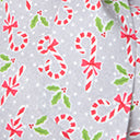 Retrolicious Candy Cane Print Blouse