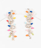 Christmas Lights Rhinestone Earrings