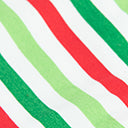 Green & Red Holiday Stripe Print Face Mask