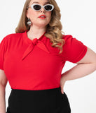 Plus Size 1950s Red Sandy Loves Danny Top