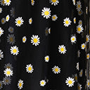 Unique Vintage Plus Size Black & White Daisy Print Tulle Hilty Skirt