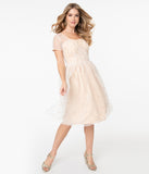 Magnolia Place Champagne & Sparkling Stars Dorothy Swing Dress
