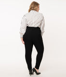 Unique Vintage Plus Size Black Angelina Pants