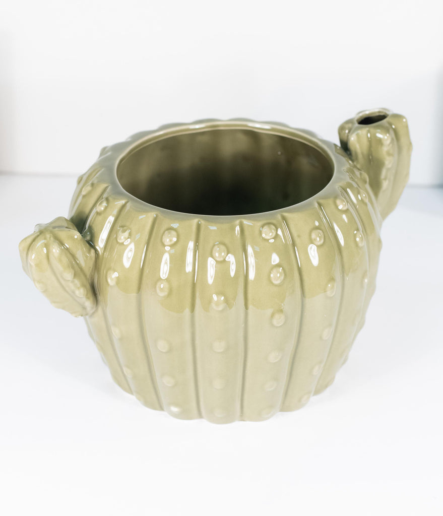Green Cactus Ceramic Planter Pot