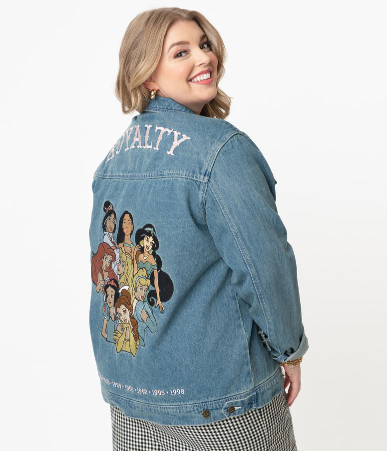 Cakeworthy Plus Size Old School Denim Disney Royalty Jacket