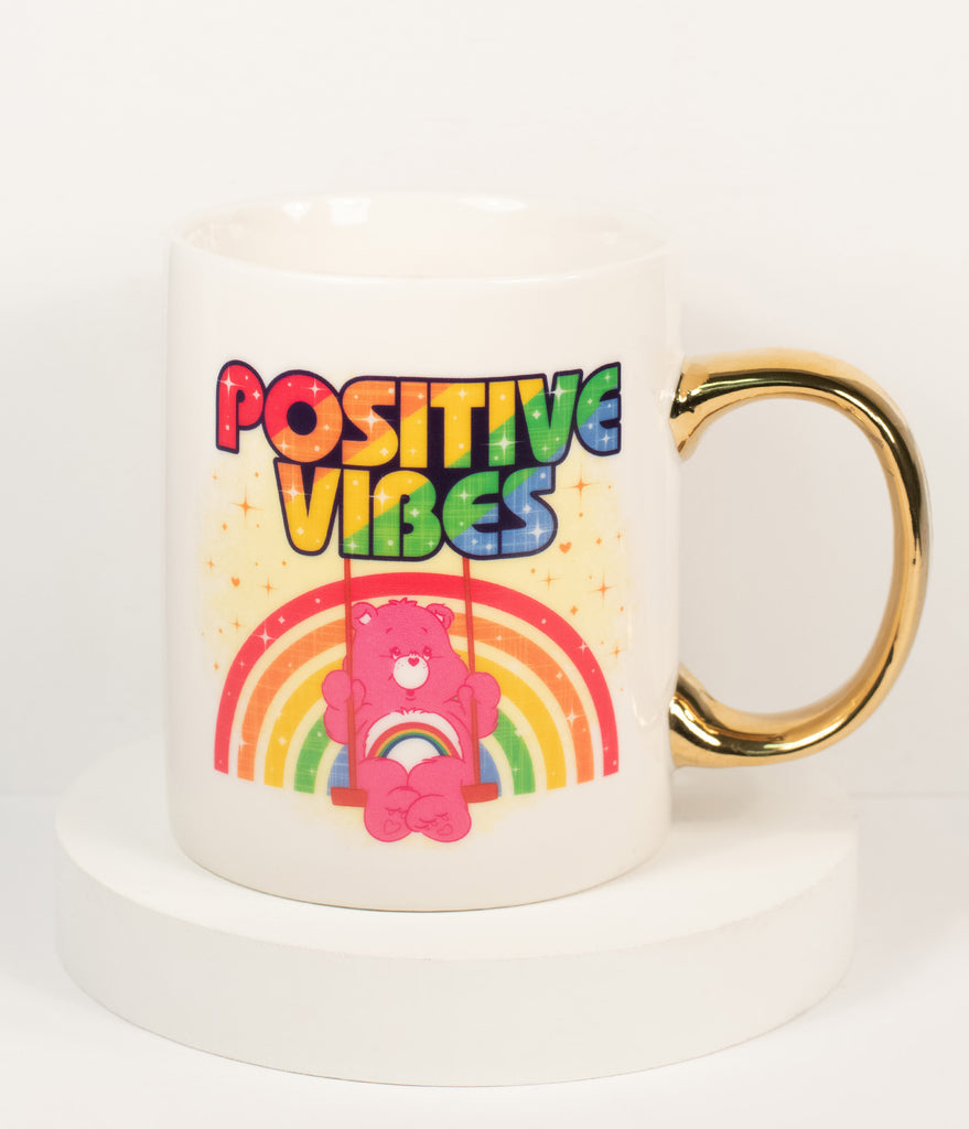 Care Bears x Unique Vintage Positive Vibes Mug