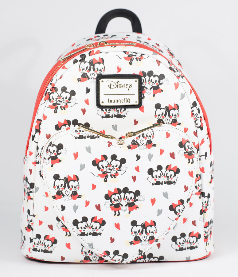 Loungefly Mickey & Minnie Mouse Hearts & Love Mini Backpack