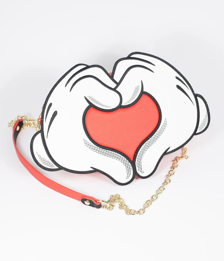 Loungefly Mickey Mouse Love Heart Hands Crossbody