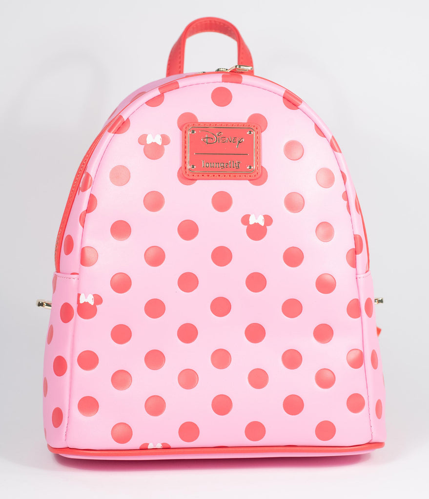 Loungefly Pink & Red Polka Dot Minnie Mouse Mini Backpack & Fanny Pack