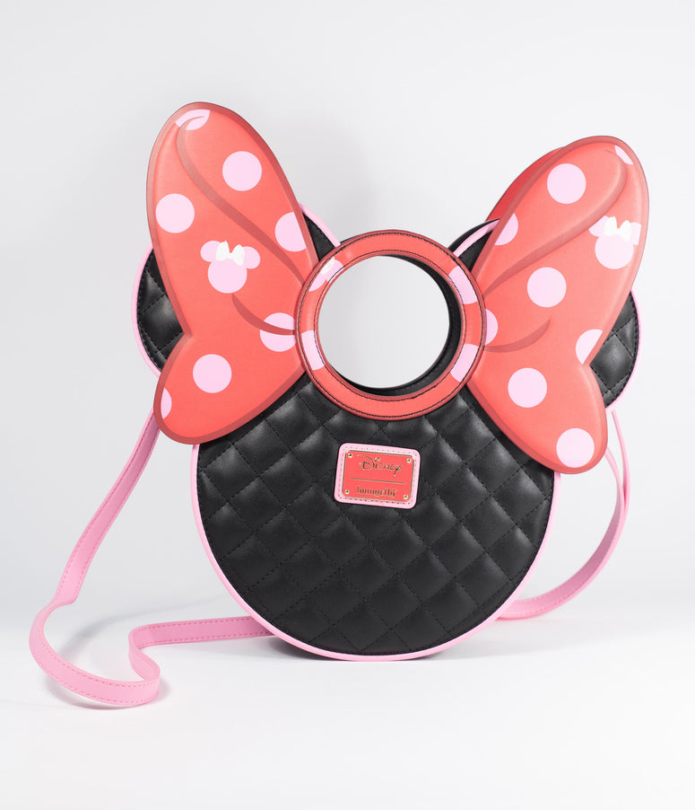Loungefly Minnie Mouse Quilted & Polka Dot Bow Purse