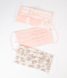 Blush & Leopard Print Mask Set