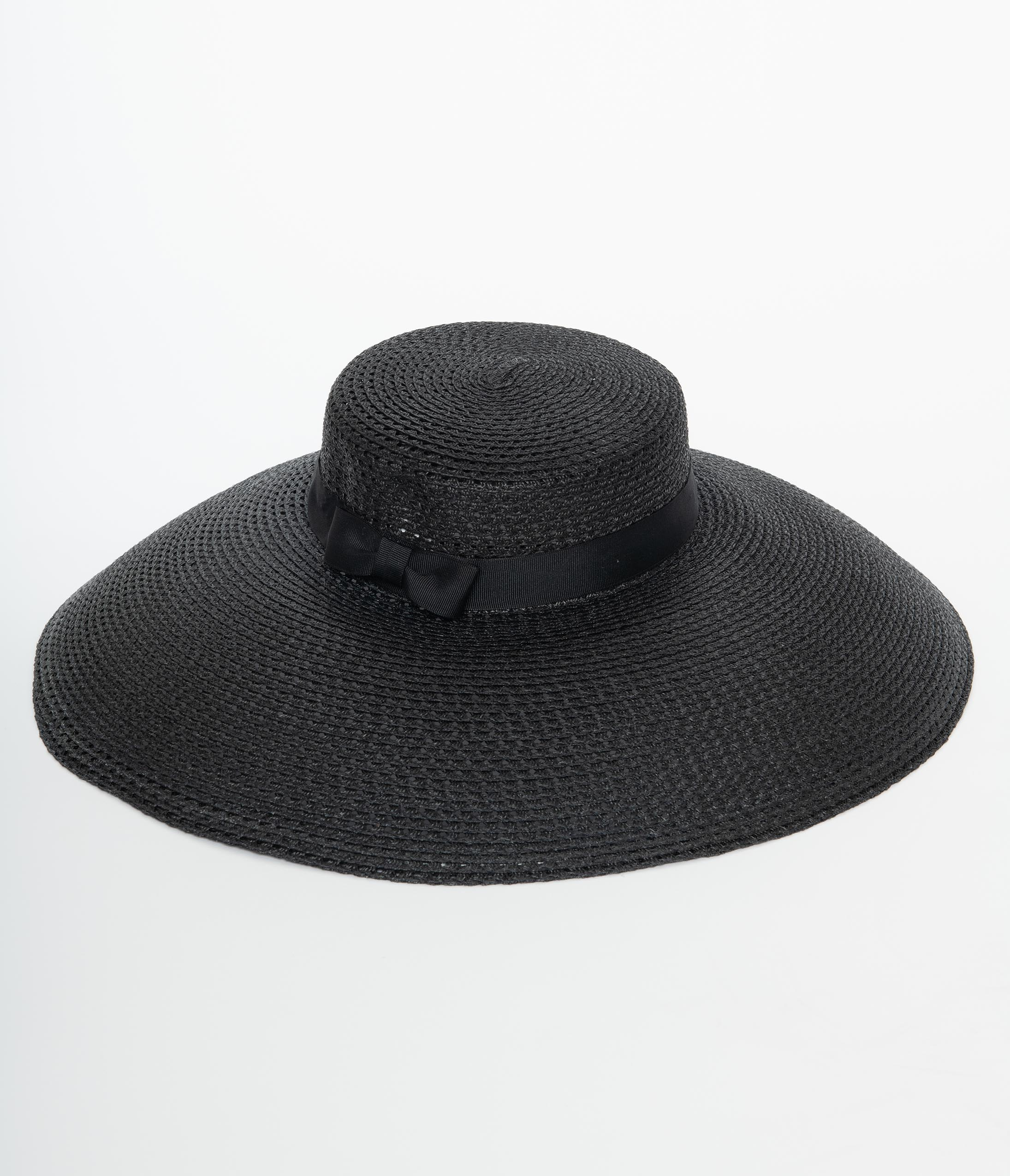 Tea Party Hats – Victorian to 1950s Unique Vintage 1950S Black Cartwheel Sun Hat $44.00 AT vintagedancer.com