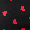 Black & Red Heart Print Face Mask