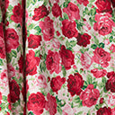 Plus Size 1950s White & Red Rose Print Sally Swing Skirt