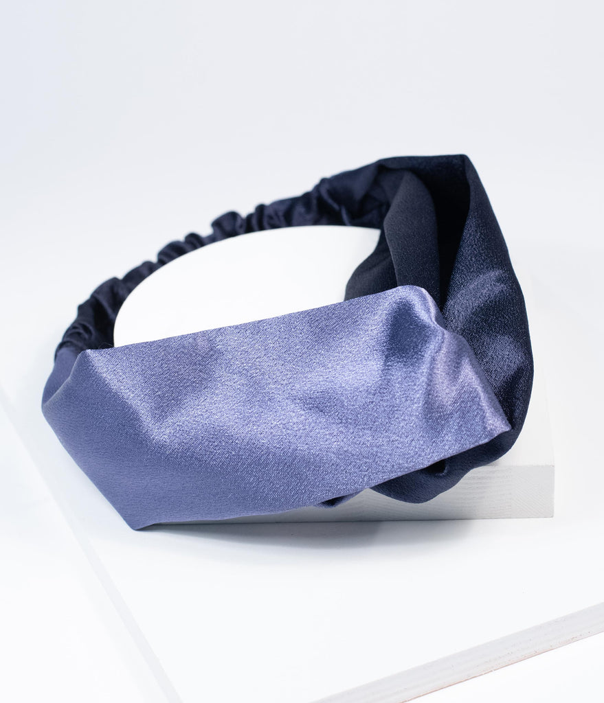 Unique Vintage Navy & Blue Grey Two Tone Headband