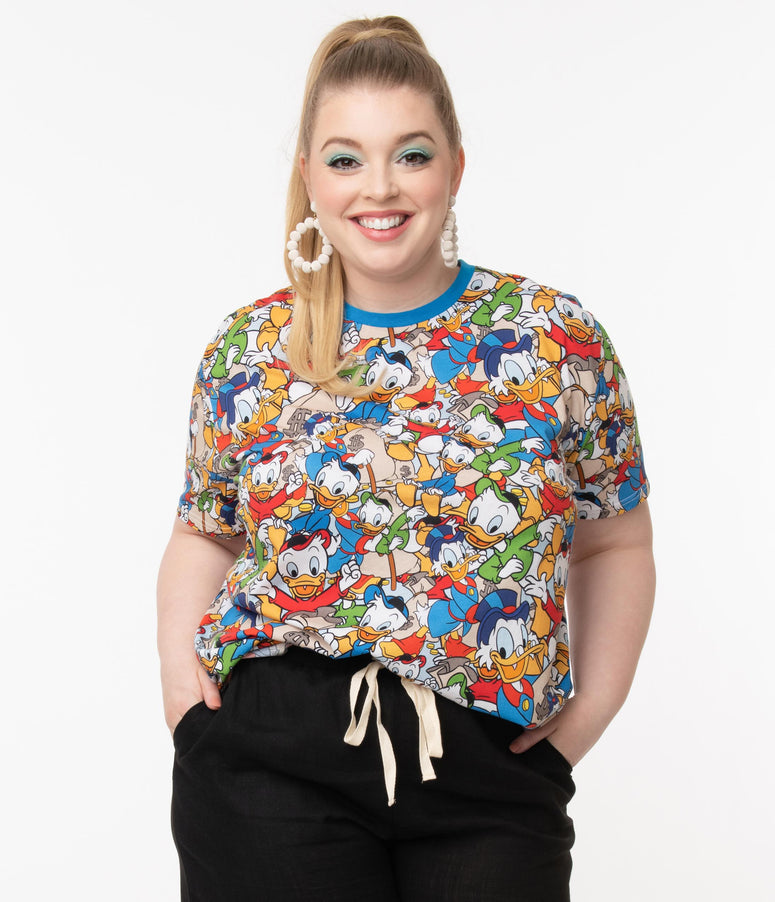 Cakeworthy Plus Size DuckTales All Over Print Unisex Tee