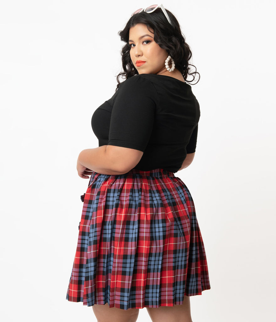 Plus Size Black & Crystal Ball Top