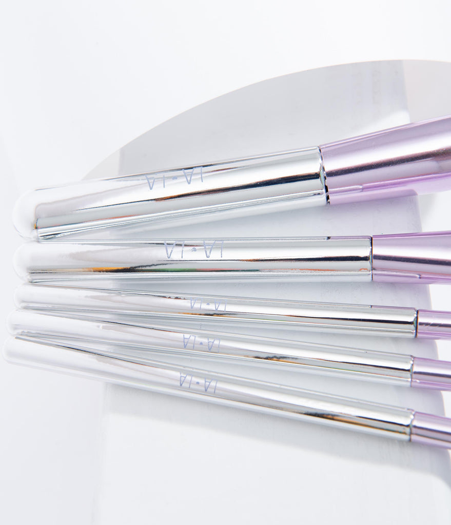 Purple & Silver Beauty Brush Set
