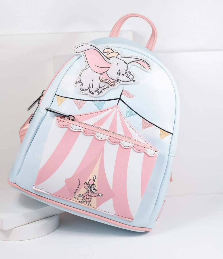 Loungefly Dumbo Flying Circus Tent Disney Mini Backpack