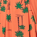 Collectif Plus Size 1950s Orange & Palm Beach Print Jill Swing Dress