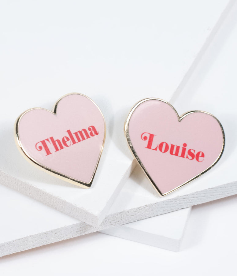 Thelma & Louise Heart Pin Set