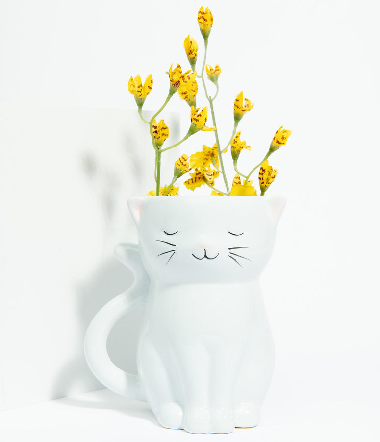 Sweetie Cat Ceramic Planter