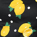Collectif Plus Size Black & Yellow Lemon Print Ylenia Crop Top